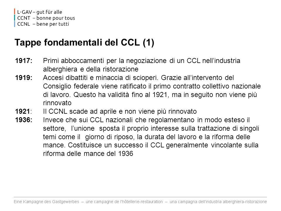 Tappe fondamentali del CCL (1)