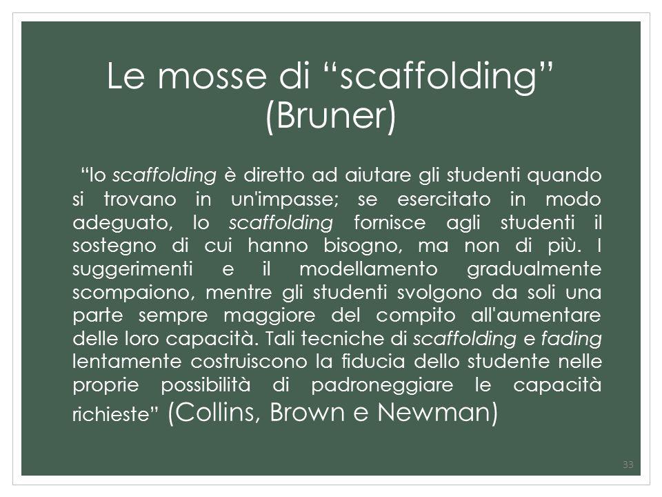 Le mosse di scaffolding (Bruner)