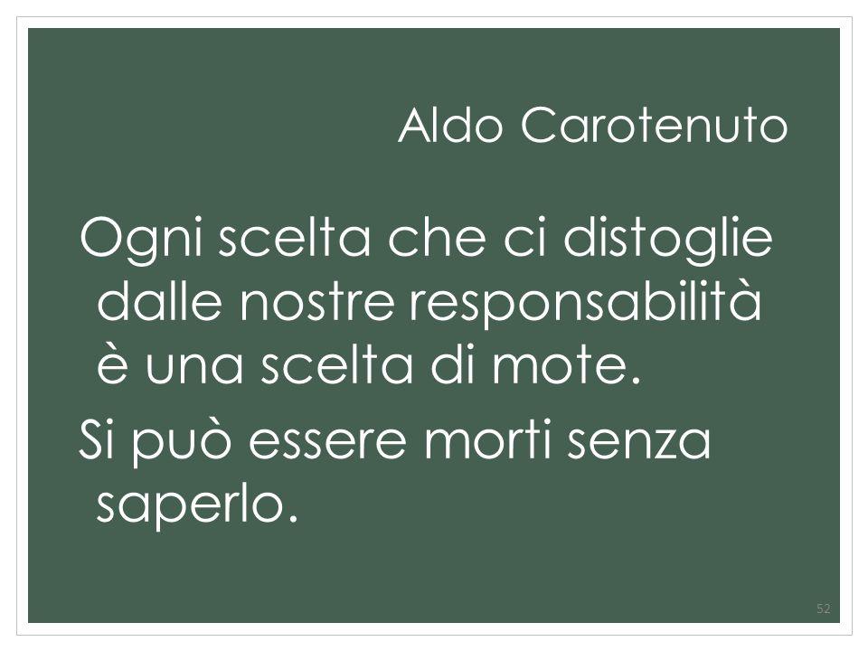 Aldo Carotenuto Ogni scelta che ci distoglie dalle nostre responsabilità è una scelta di mote.