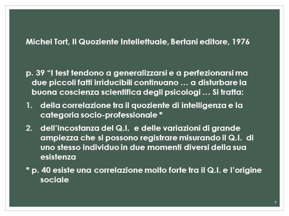 Michel Tort, Il Quoziente Intellettuale, Bertani editore, 1976