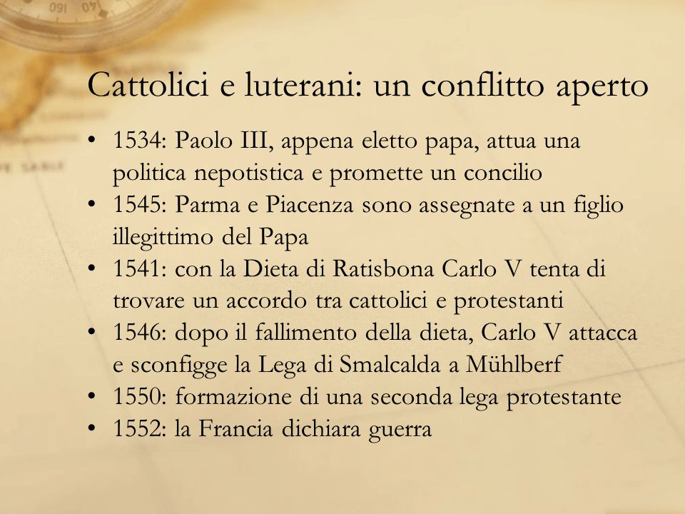 Cattolici e luterani: un conflitto aperto