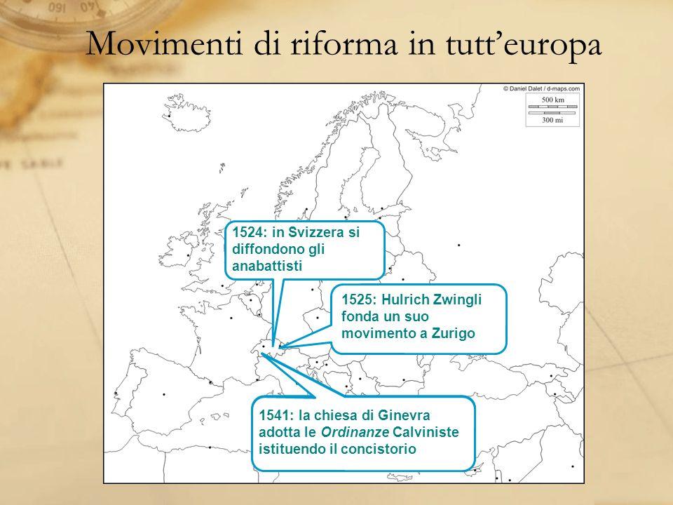 Movimenti di riforma in tutt'europa