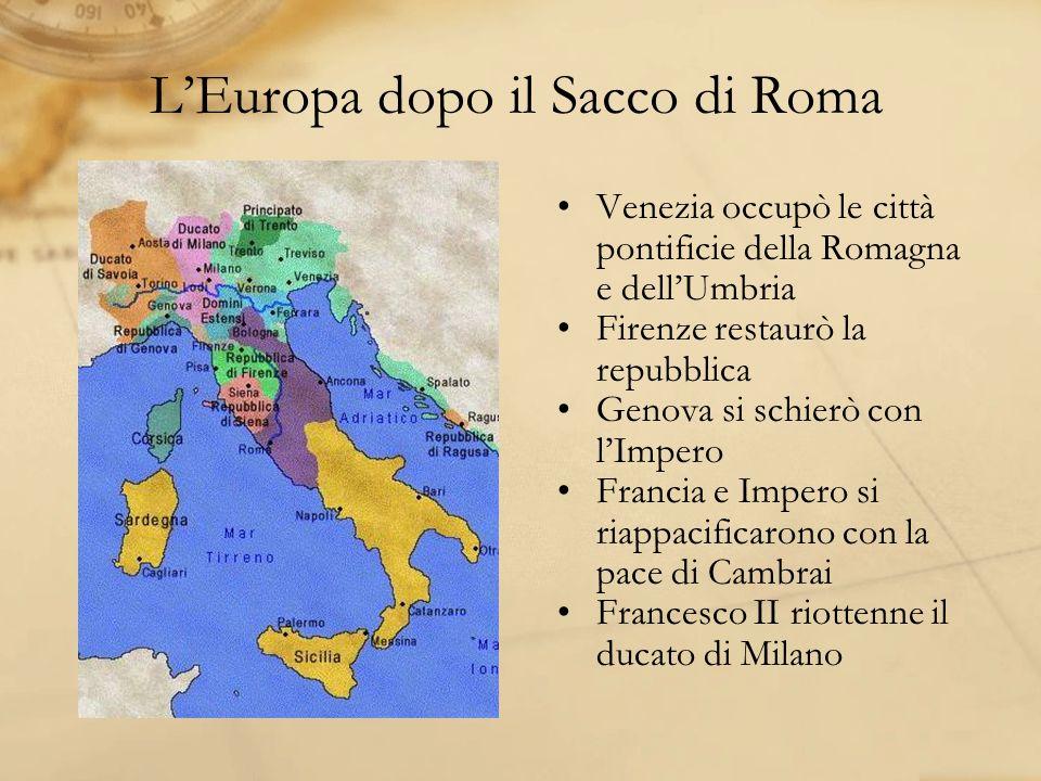 L'Europa dopo il Sacco di Roma