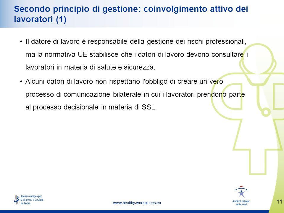Secondo principio di gestione: coinvolgimento attivo dei lavoratori (1)