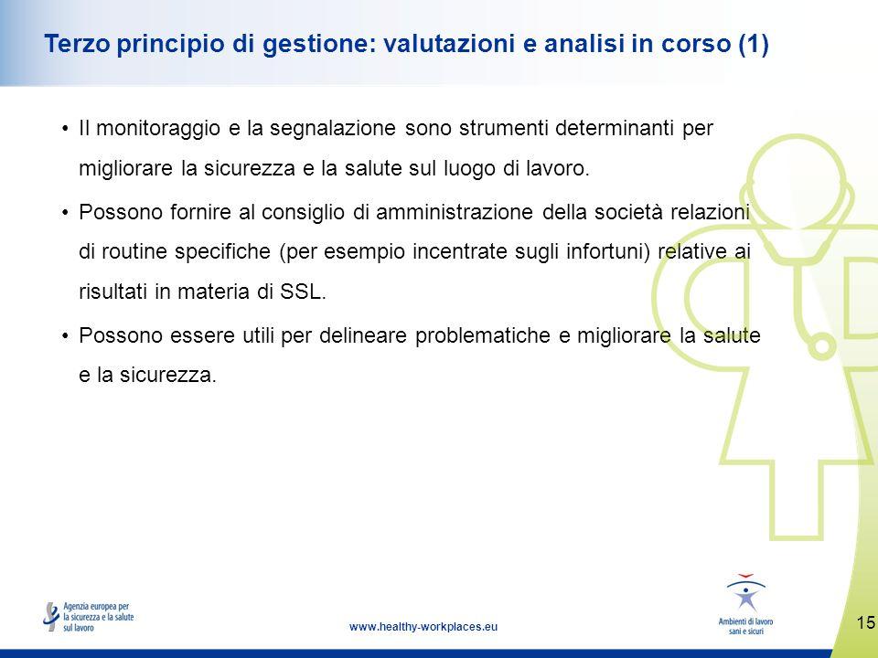 Terzo principio di gestione: valutazioni e analisi in corso (1)