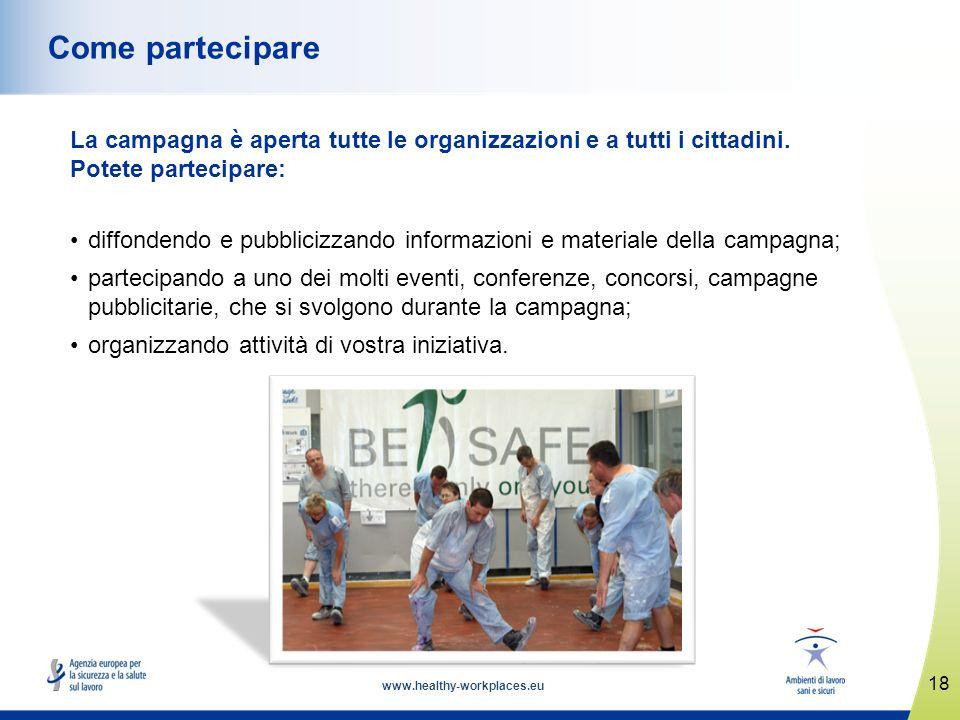 Come partecipare La campagna è aperta tutte le organizzazioni e a tutti i cittadini. Potete partecipare: