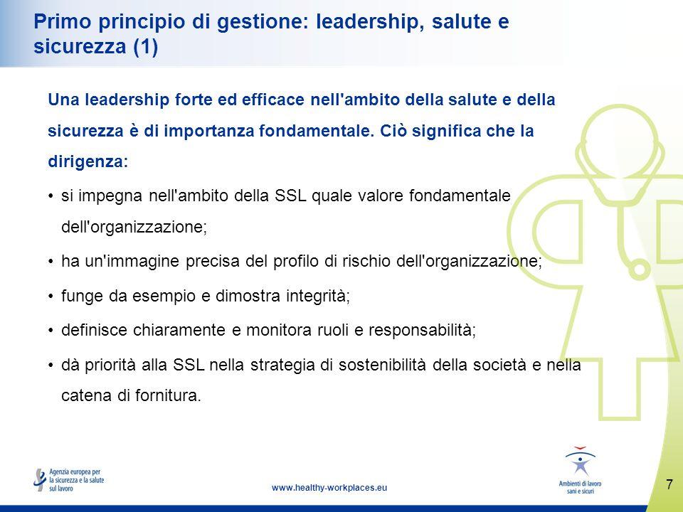 Primo principio di gestione: leadership, salute e sicurezza (1)