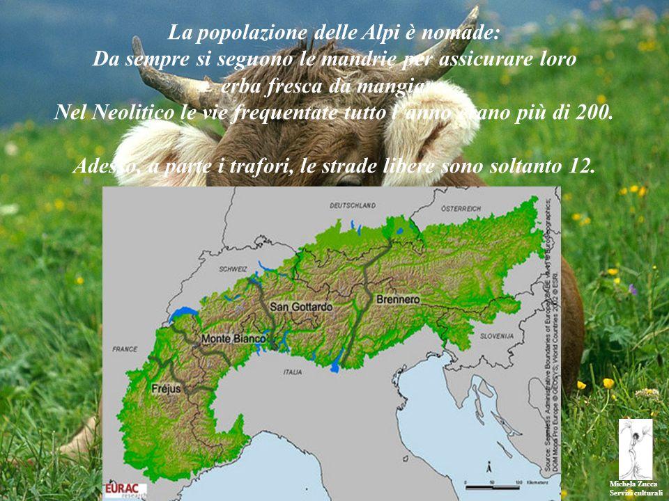 La popolazione delle Alpi è nomade: