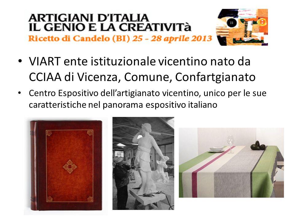 VIART ente istituzionale vicentino nato da CCIAA di Vicenza, Comune, Confartgianato