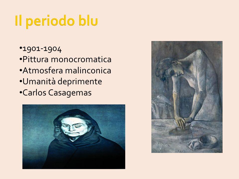 Il periodo blu 1901-1904 Pittura monocromatica Atmosfera malinconica