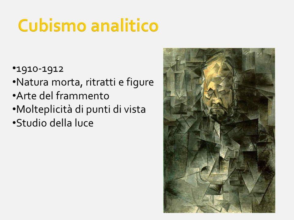 Cubismo analitico 1910-1912 Natura morta, ritratti e figure