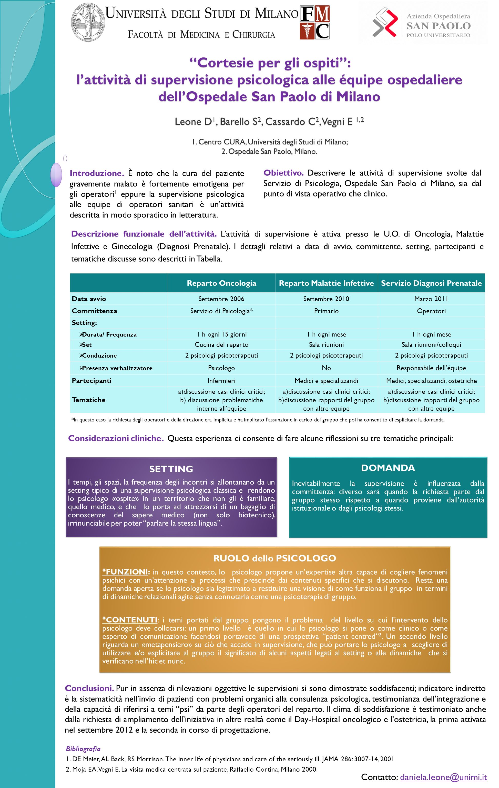 Reparto Malattie Infettive Servizio Diagnosi Prenatale