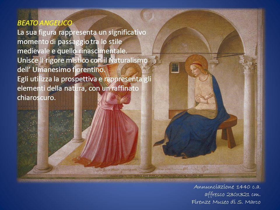 BEATO ANGELICO La sua figura rappresenta un significativo momento di passaggio tra lo stile medievale e quello rinascimentale.