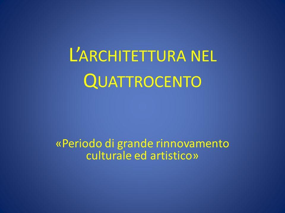 L'architettura nel Quattrocento