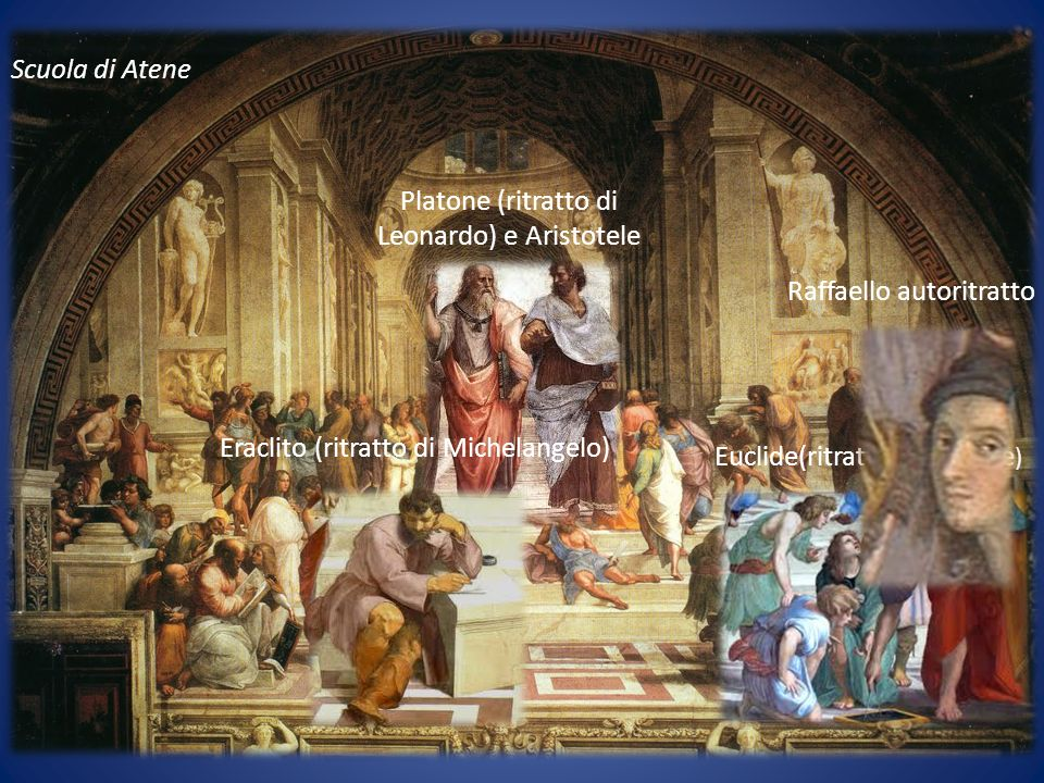 Platone (ritratto di Leonardo) e Aristotele