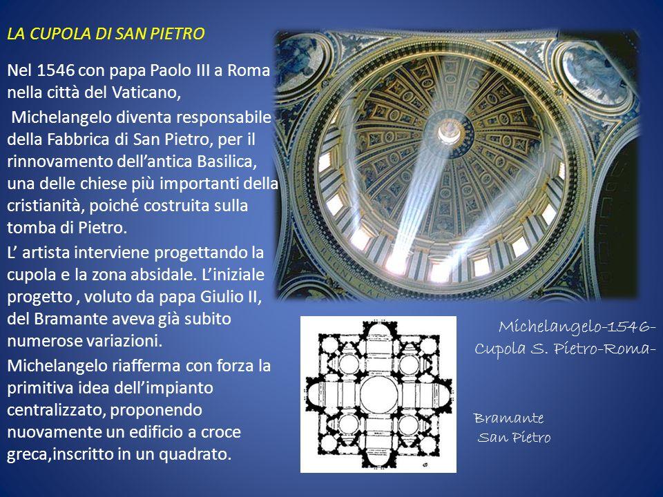 Michelangelo-1546- Cupola S. Pietro-Roma-