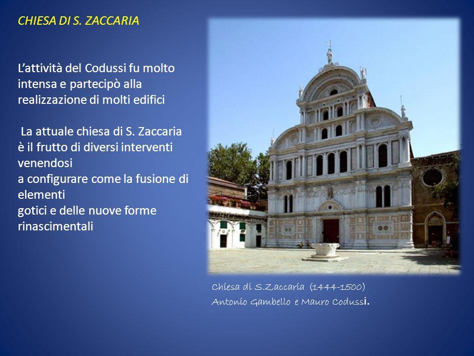 La attuale chiesa di S. Zaccaria