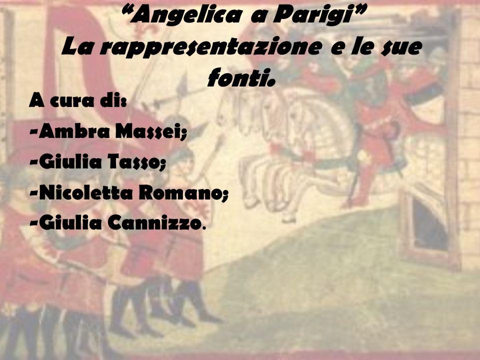 Angelica a Parigi La rappresentazione e le sue fonti.