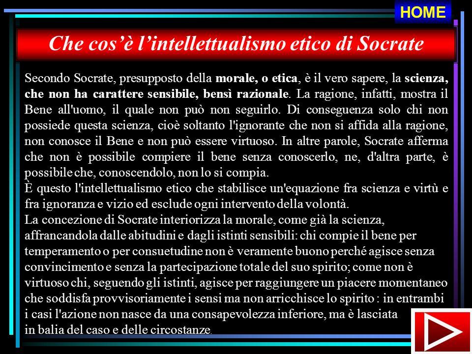Che cos'è l'intellettualismo etico di Socrate