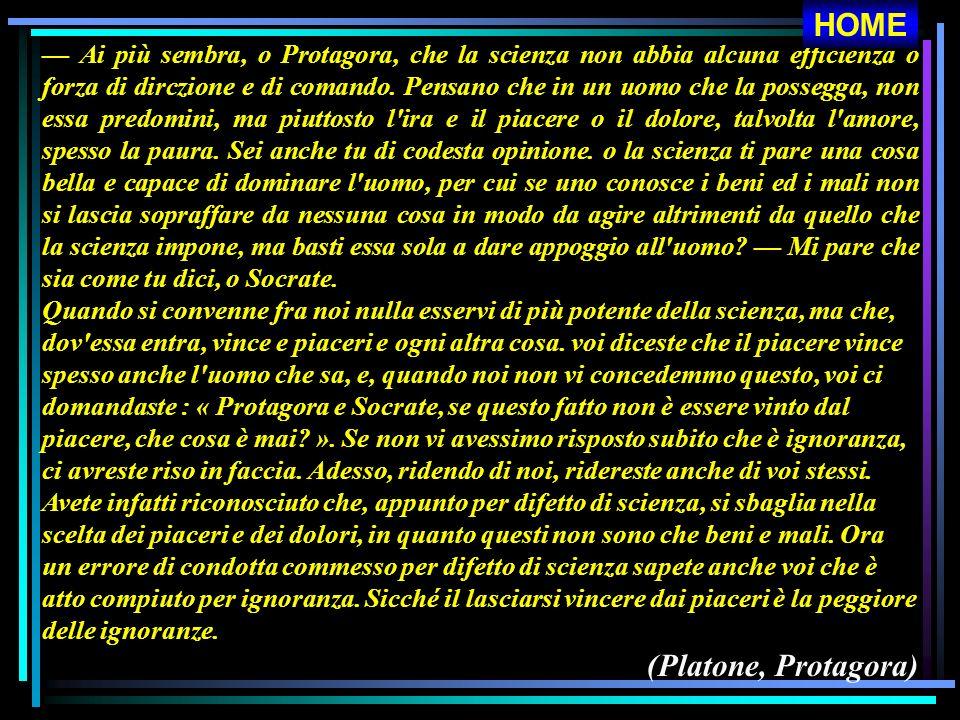 HOME (Platone, Protagora)