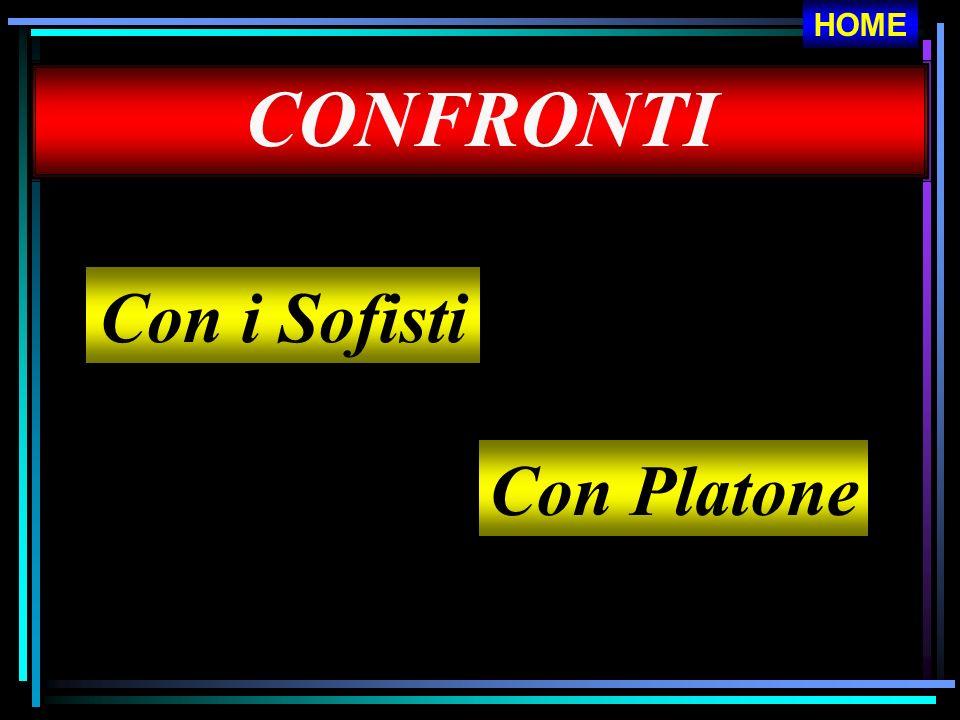 HOME CONFRONTI Con i Sofisti Con Platone