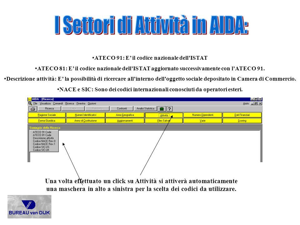ATECO 91: E' il codice nazionale dell'ISTAT