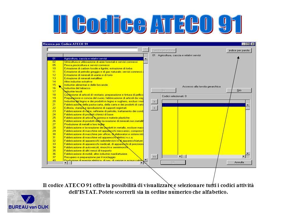Il Codice ATECO 91