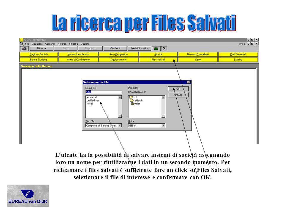 La ricerca per Files Salvati