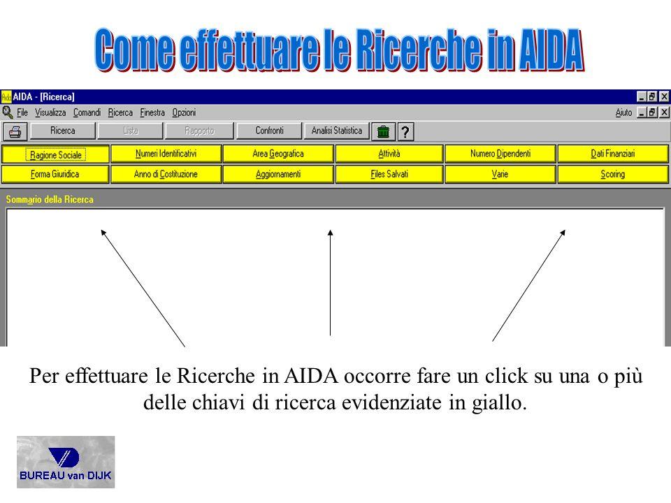 Come effettuare le Ricerche in AIDA