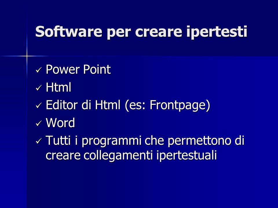 Software per creare ipertesti