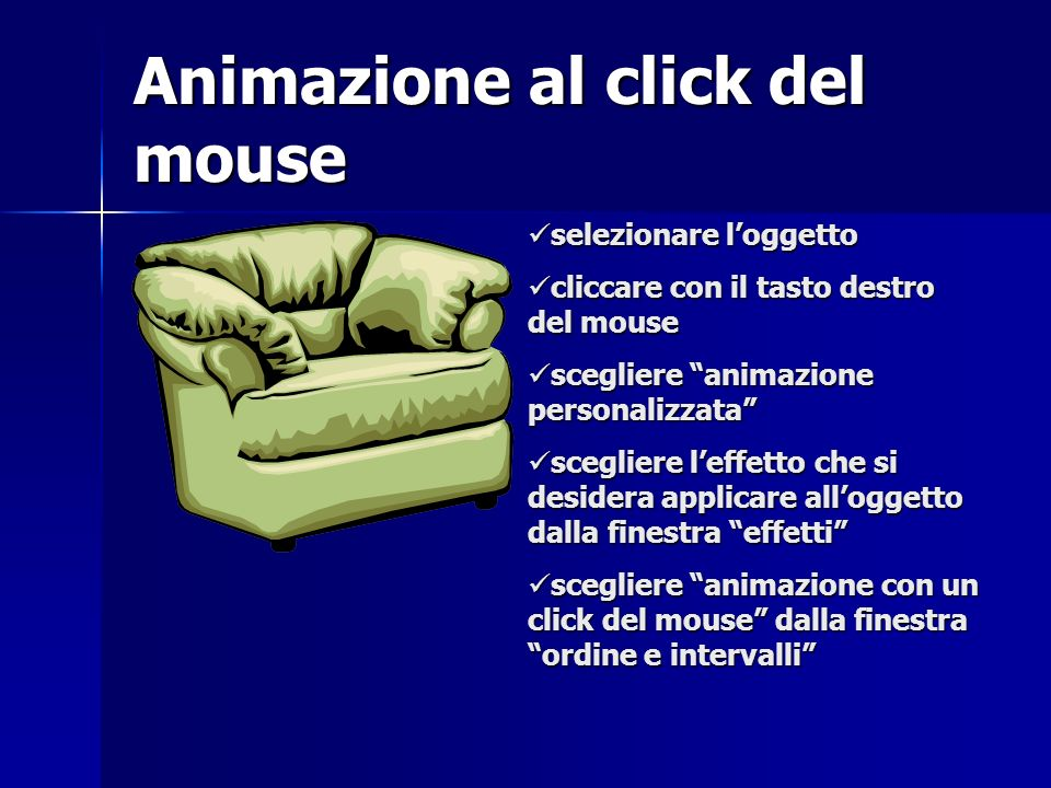 Animazione al click del mouse