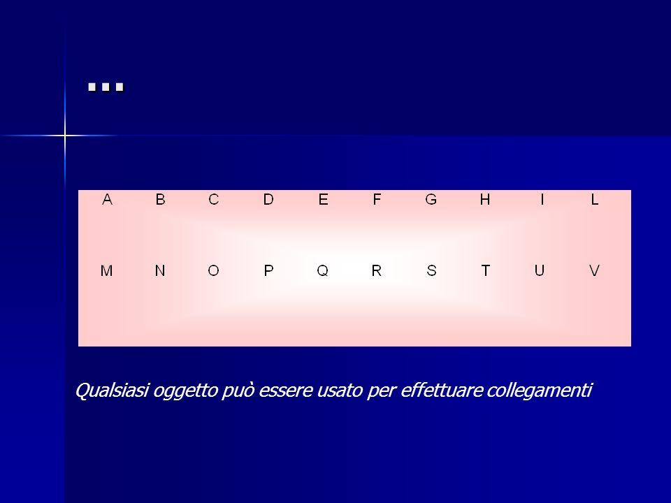 … Qualsiasi oggetto può essere usato per effettuare collegamenti