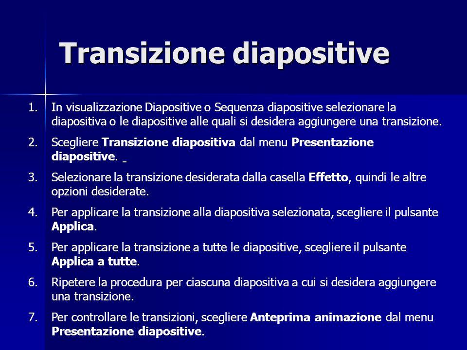Transizione diapositive