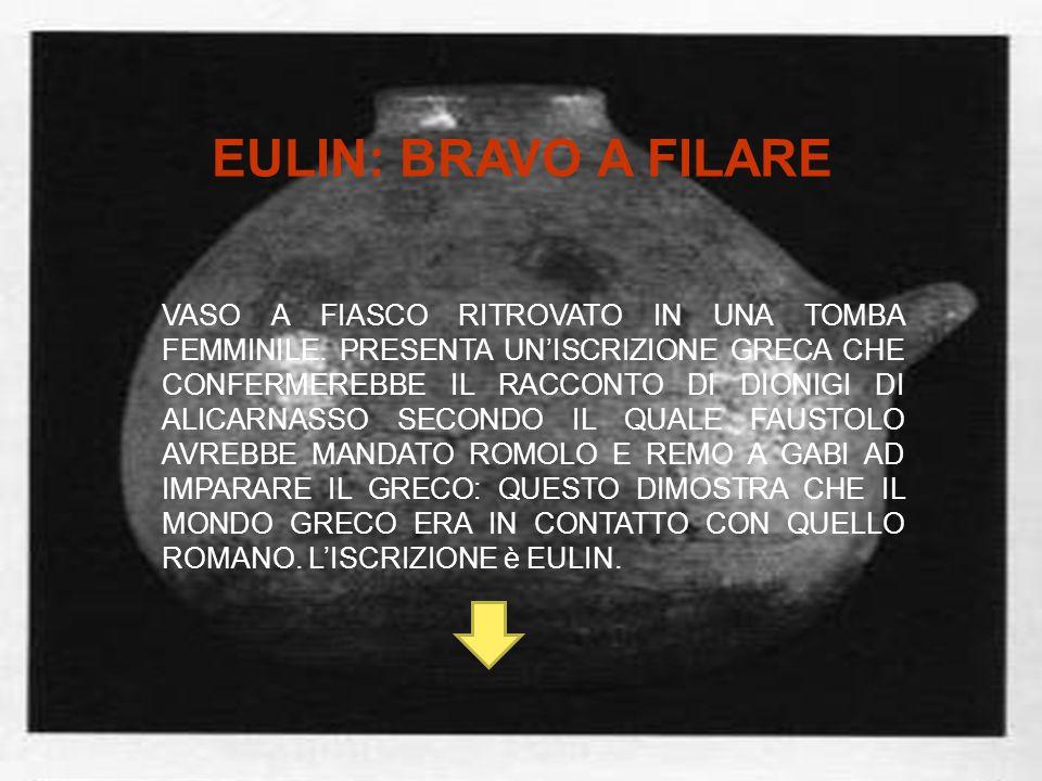 EULIN: BRAVO A FILARE