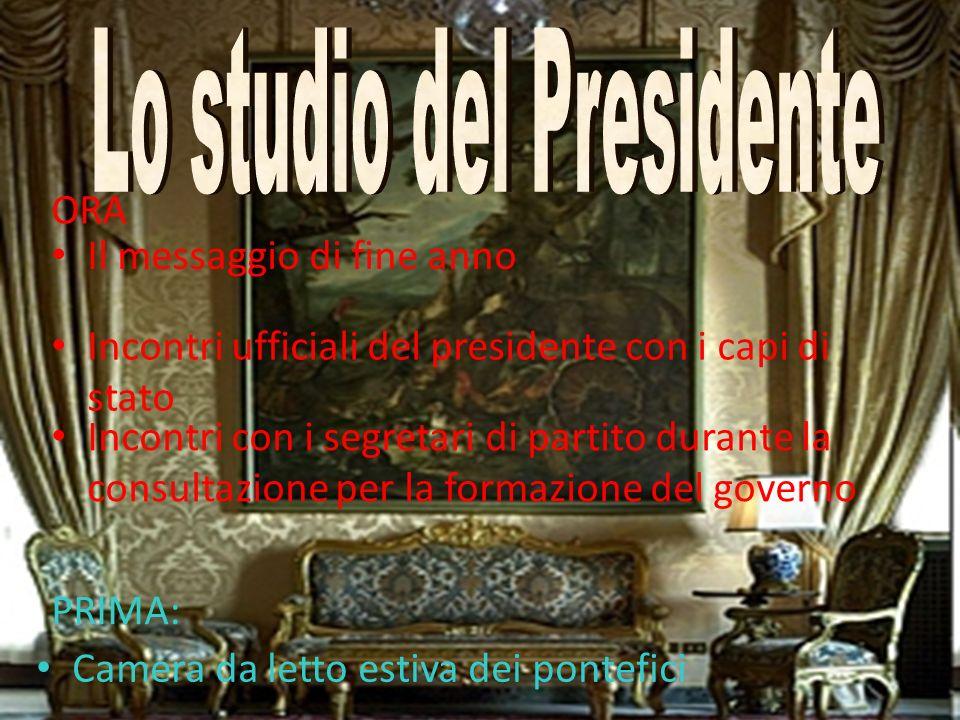 Lo studio del Presidente