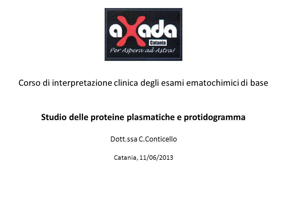 Studio delle proteine plasmatiche e protidogramma