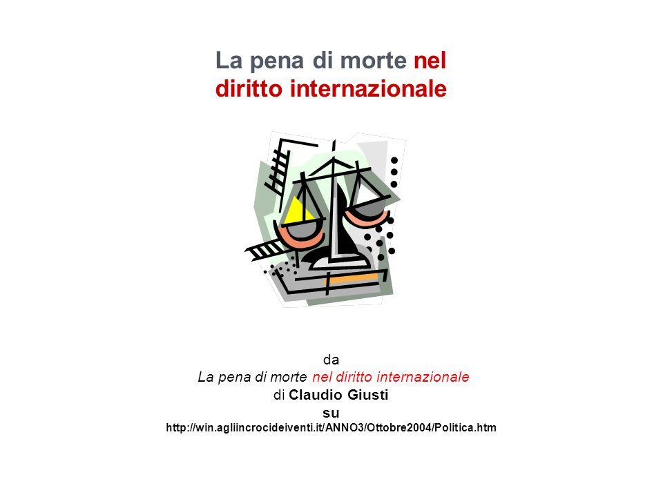 La pena di morte nel diritto internazionale