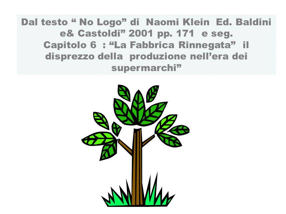Dal testo No Logo di Naomi Klein Ed. Baldini e& Castoldi 2001 pp