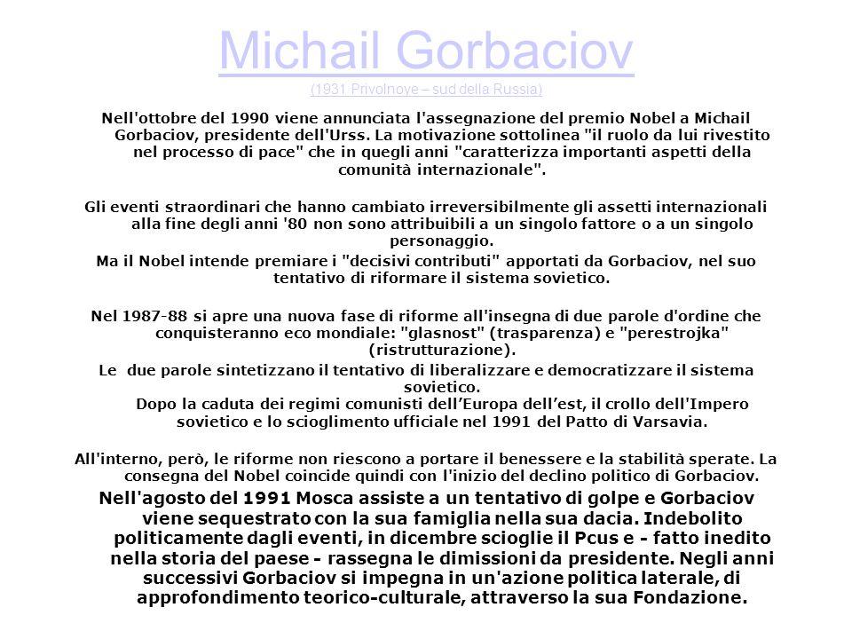 Michail Gorbaciov (1931 Privolnoye – sud della Russia)