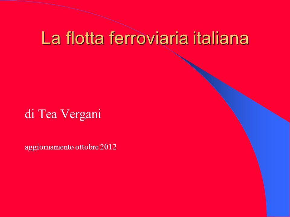 La flotta ferroviaria italiana