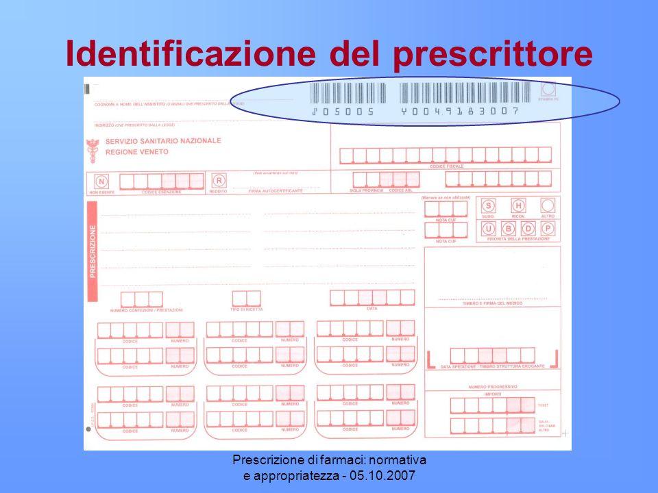 Identificazione del prescrittore