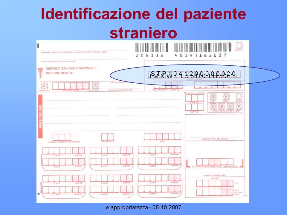 Identificazione del paziente straniero