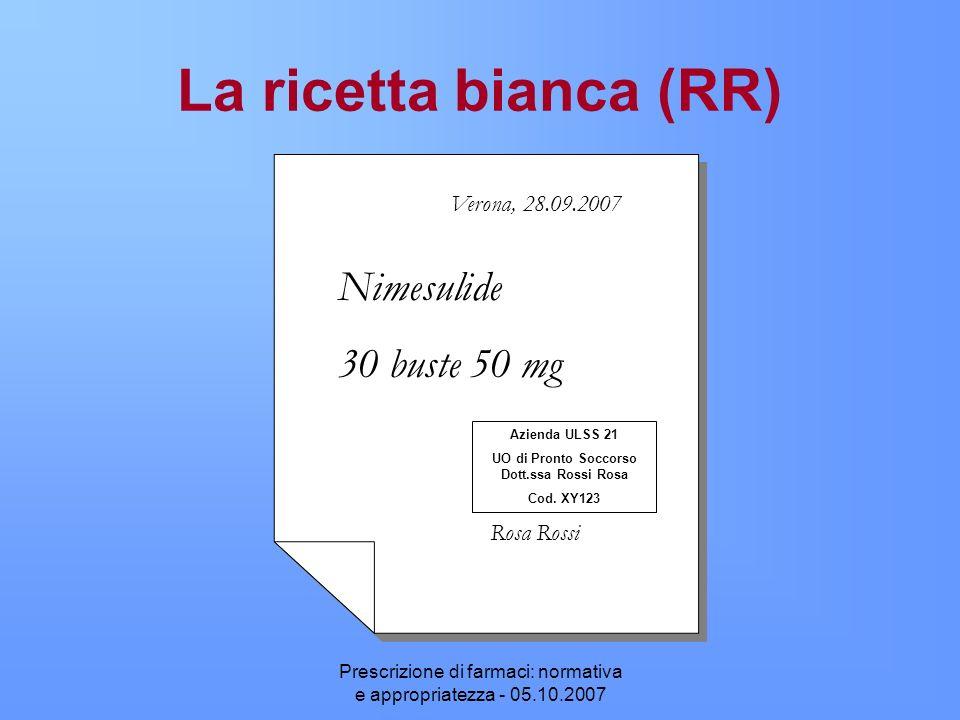 UO di Pronto Soccorso Dott.ssa Rossi Rosa