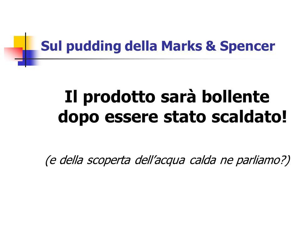 Sul pudding della Marks & Spencer