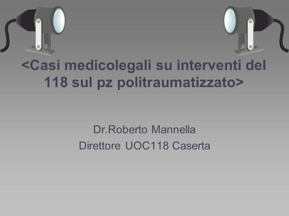 Dr.Roberto Mannella Direttore UOC118 Caserta