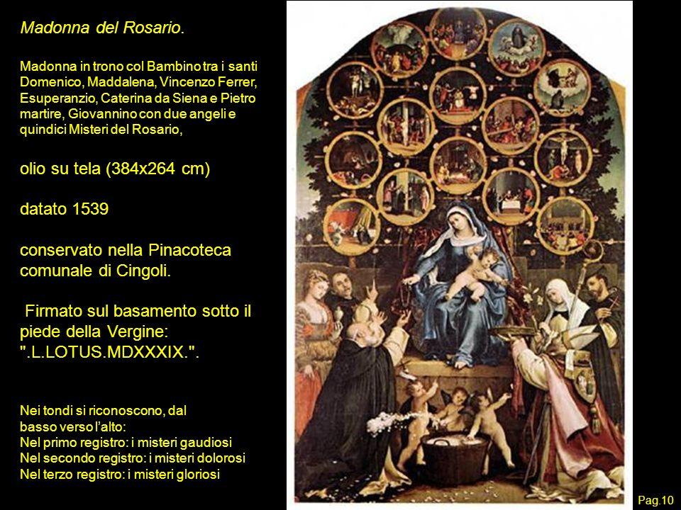 conservato nella Pinacoteca comunale di Cingoli.
