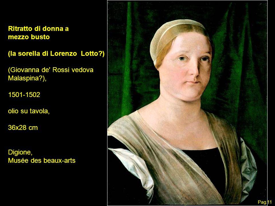 (la sorella di Lorenzo Lotto ) (Giovanna de Rossi vedova Malaspina ),