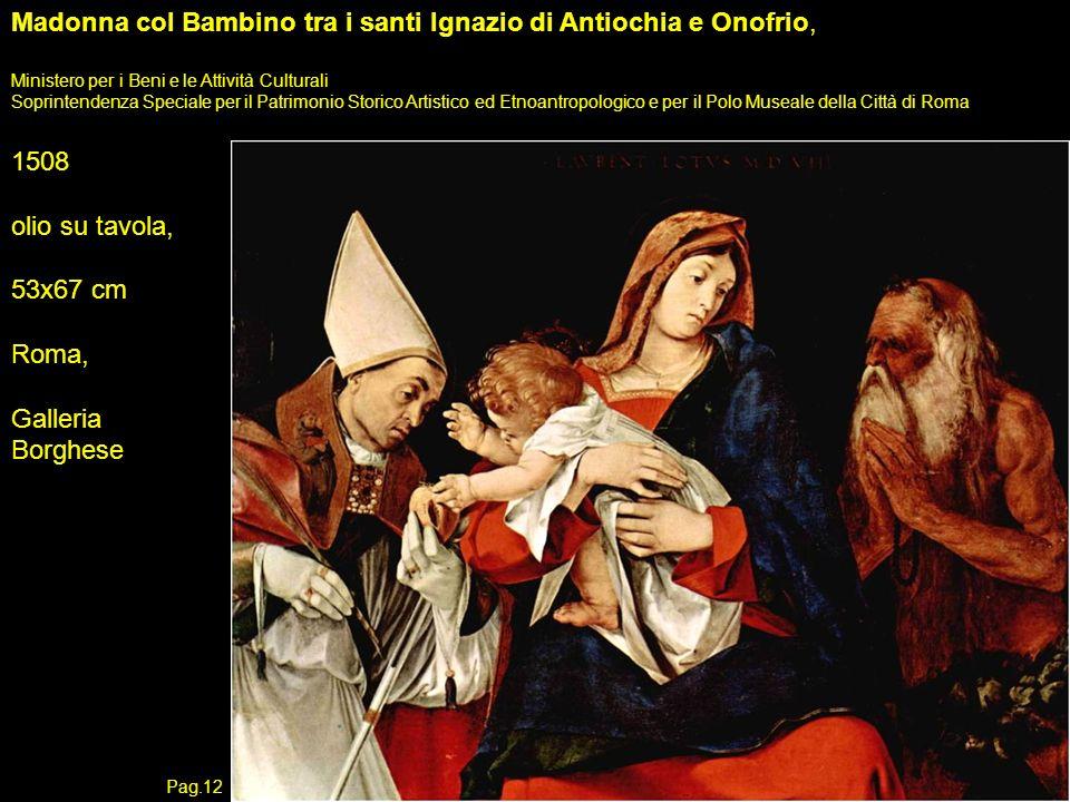 Madonna col Bambino tra i santi Ignazio di Antiochia e Onofrio,