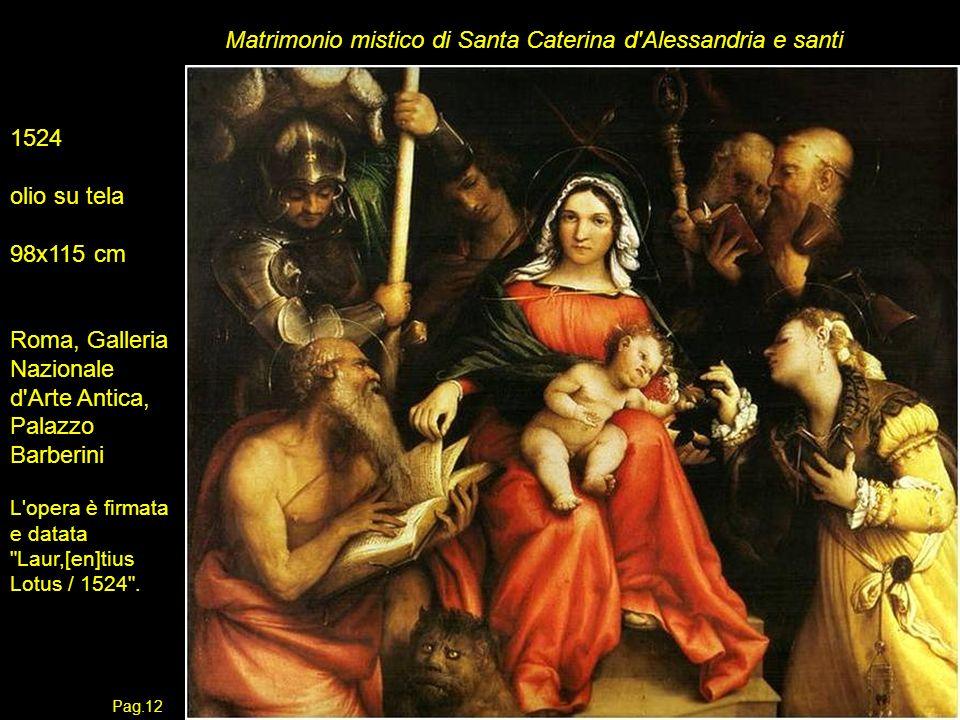 Matrimonio mistico di Santa Caterina d Alessandria e santi