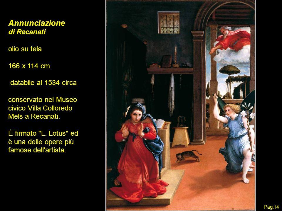 Annunciazione di Recanati olio su tela 166 x 114 cm
